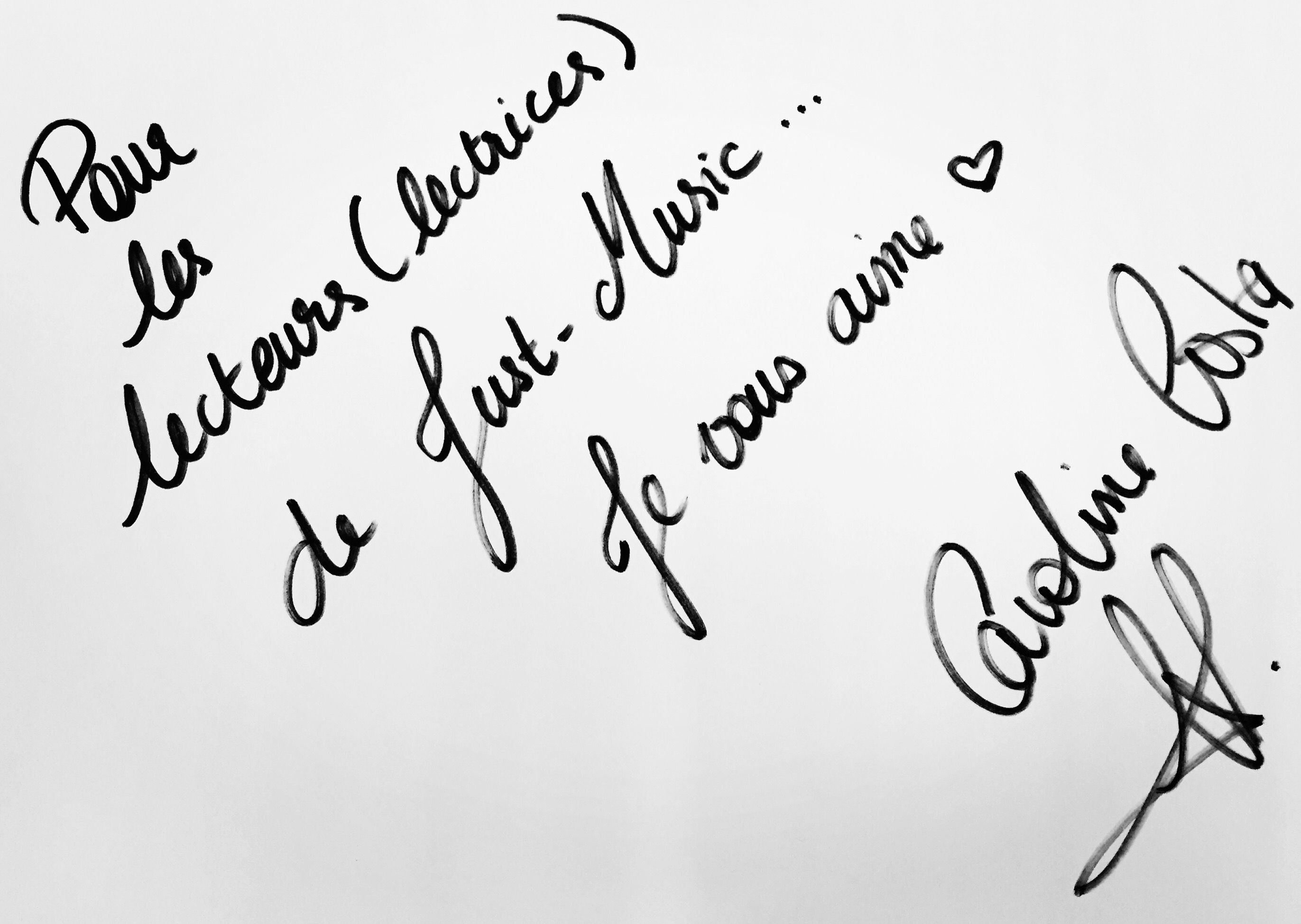 Caroline Costa JustMusic.fr Dédicace