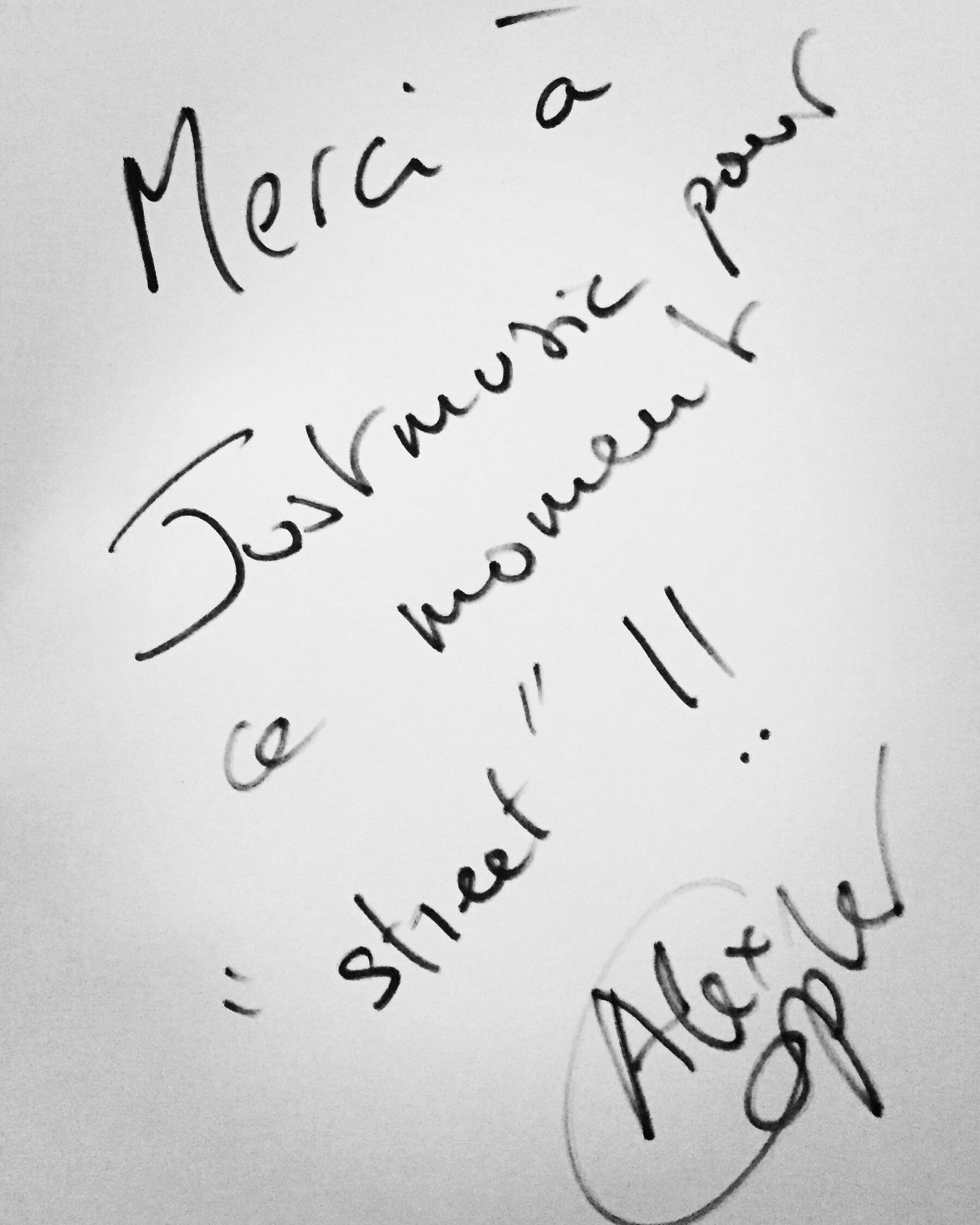 Alex Copler Dédicace JustMusic.fr
