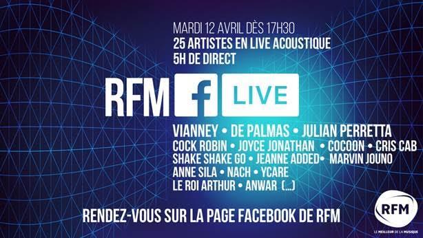 Le RFM Facebook Live JustMusic.fr