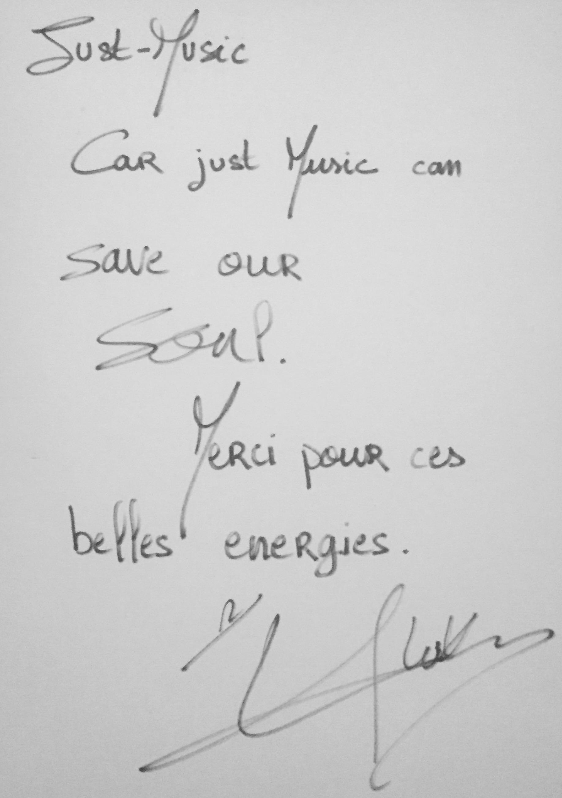 Lukas K. Abdul Dédicace JustMusic.fr