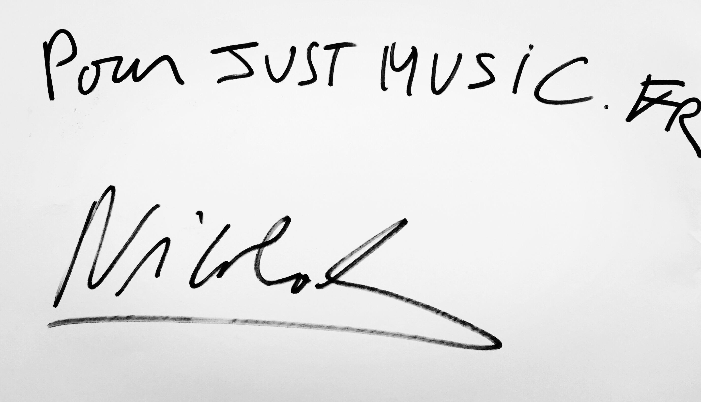Nicolas Michaux Dédicace JustMusic.fr