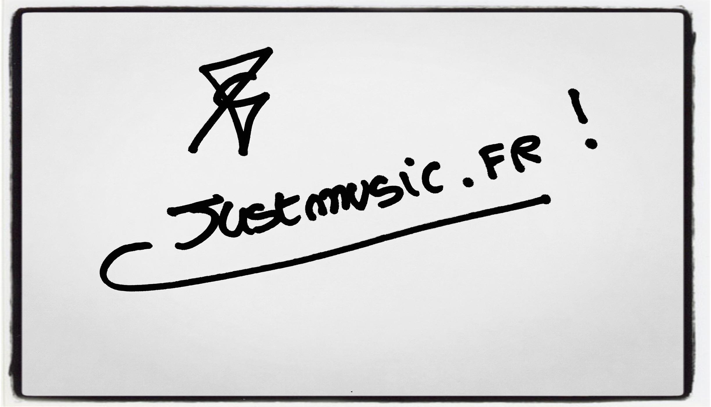 Sacha Perez Dédicace JustMusic.fr