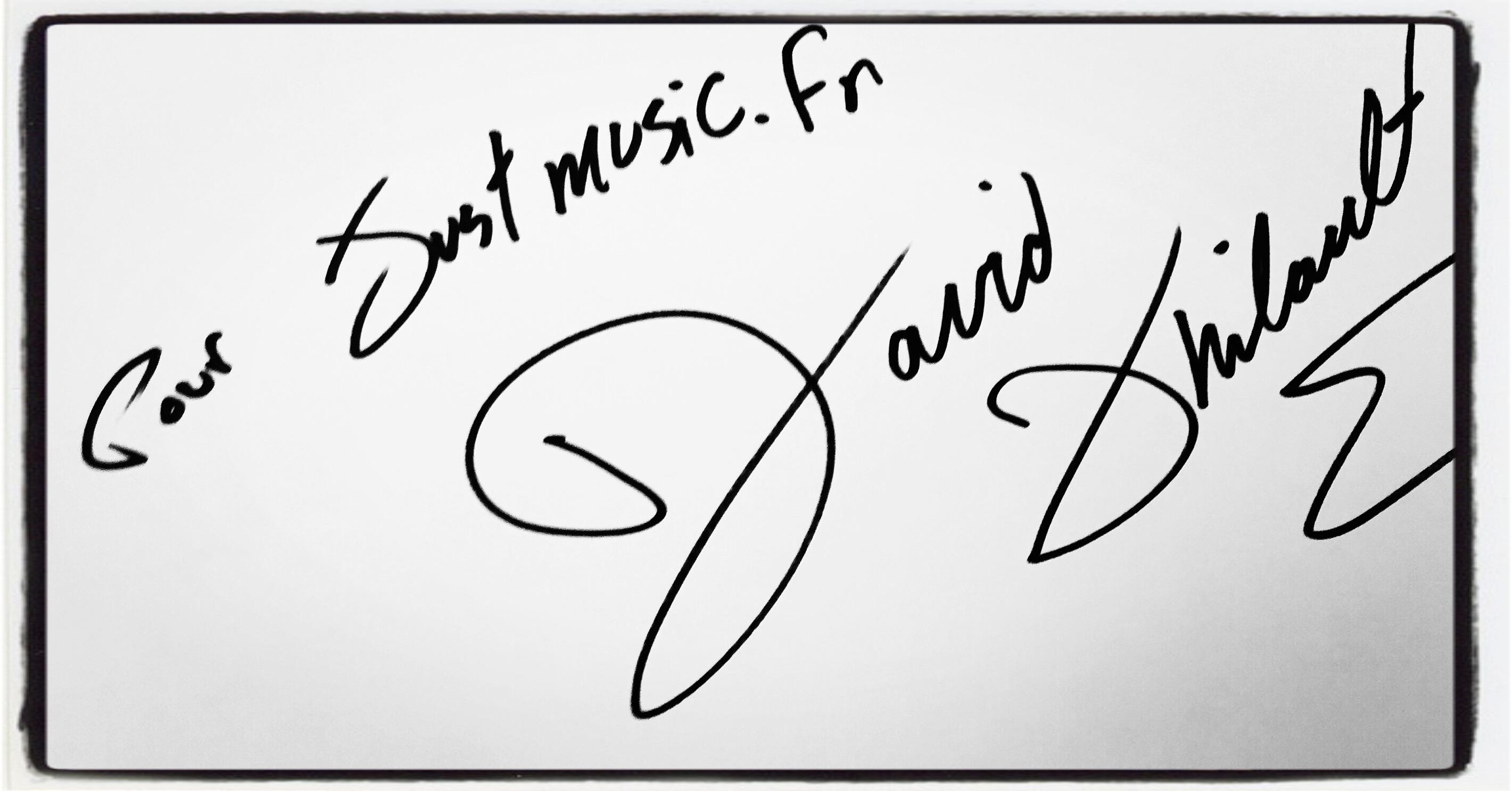 David Thibault JustMusic.fr Dédicace