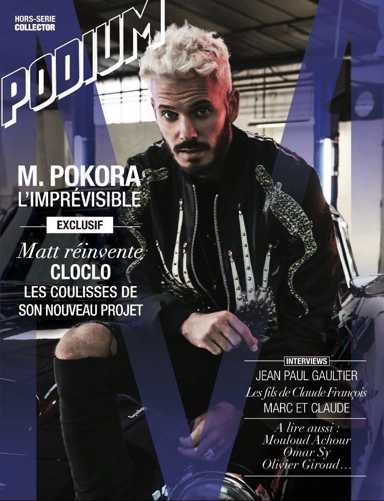 M. Pokora - Podium JustMusic.fr (Couverture Magazine)