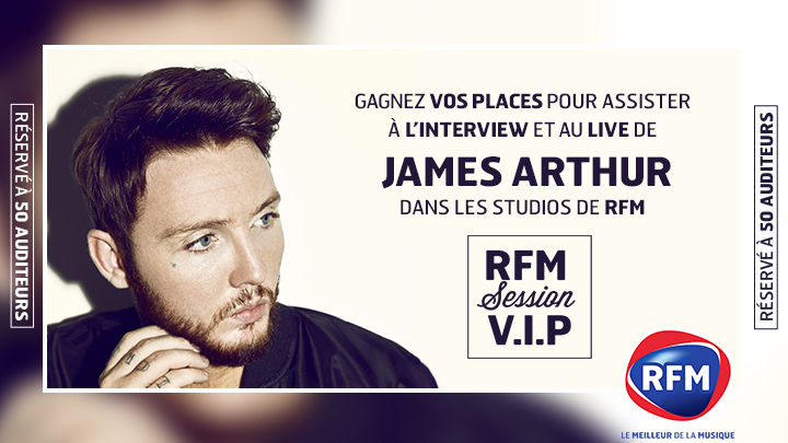 James Arthur RFM JustMusic.fr