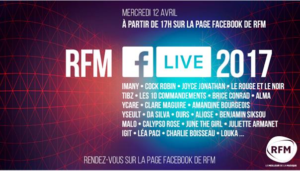 RFM Facebook Live JustMusic.fr