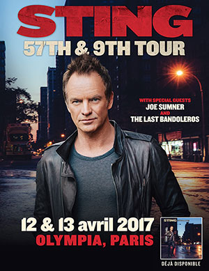 Sting Olympia JustMusic.fr