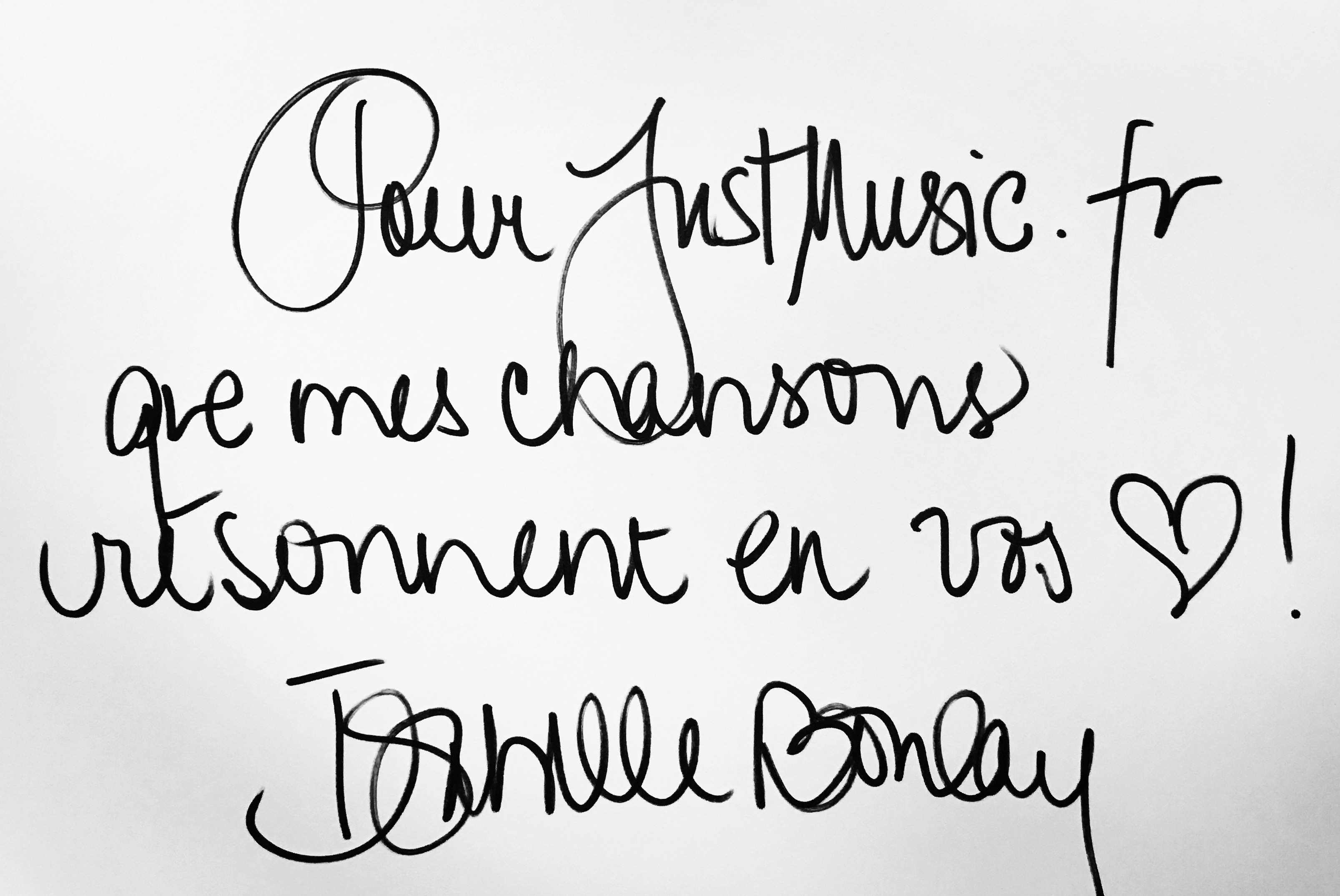 Isabelle Boulay Dédicace JustMusic.fr