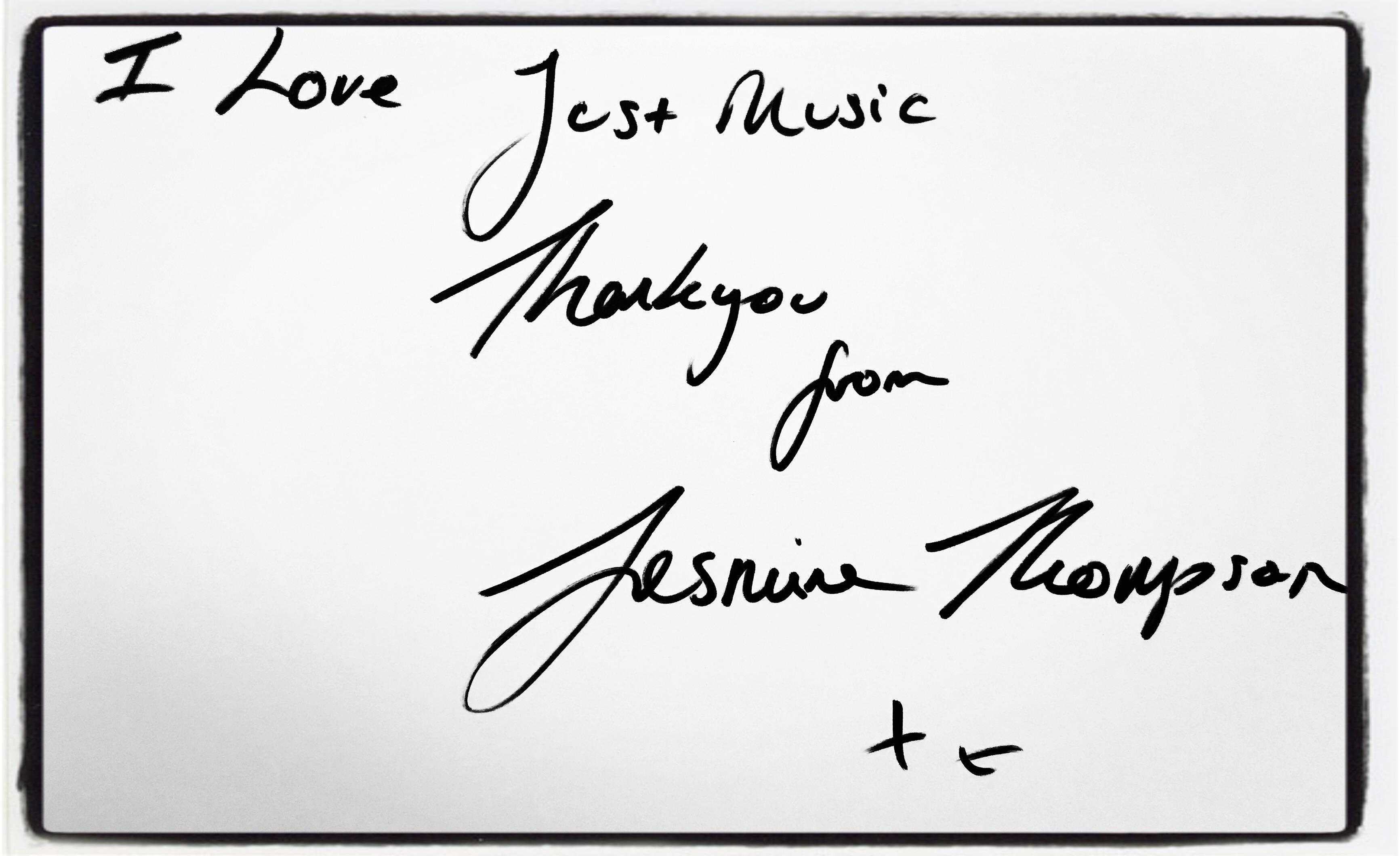 Jasmine Thompson Dédicace JustMusic.fr