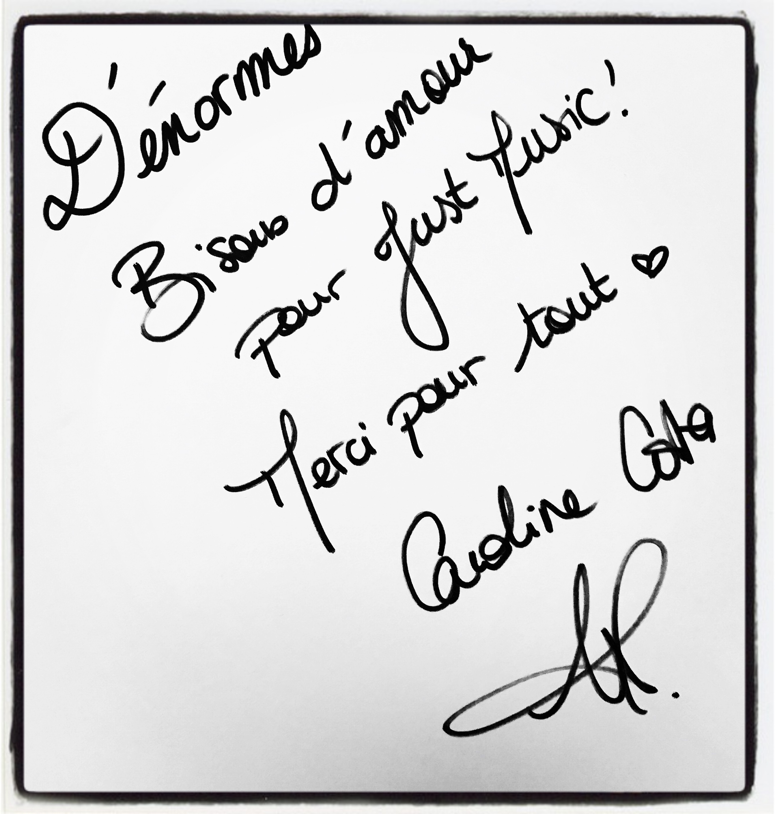 Caroline Costa Dédicace JustMusic.fr