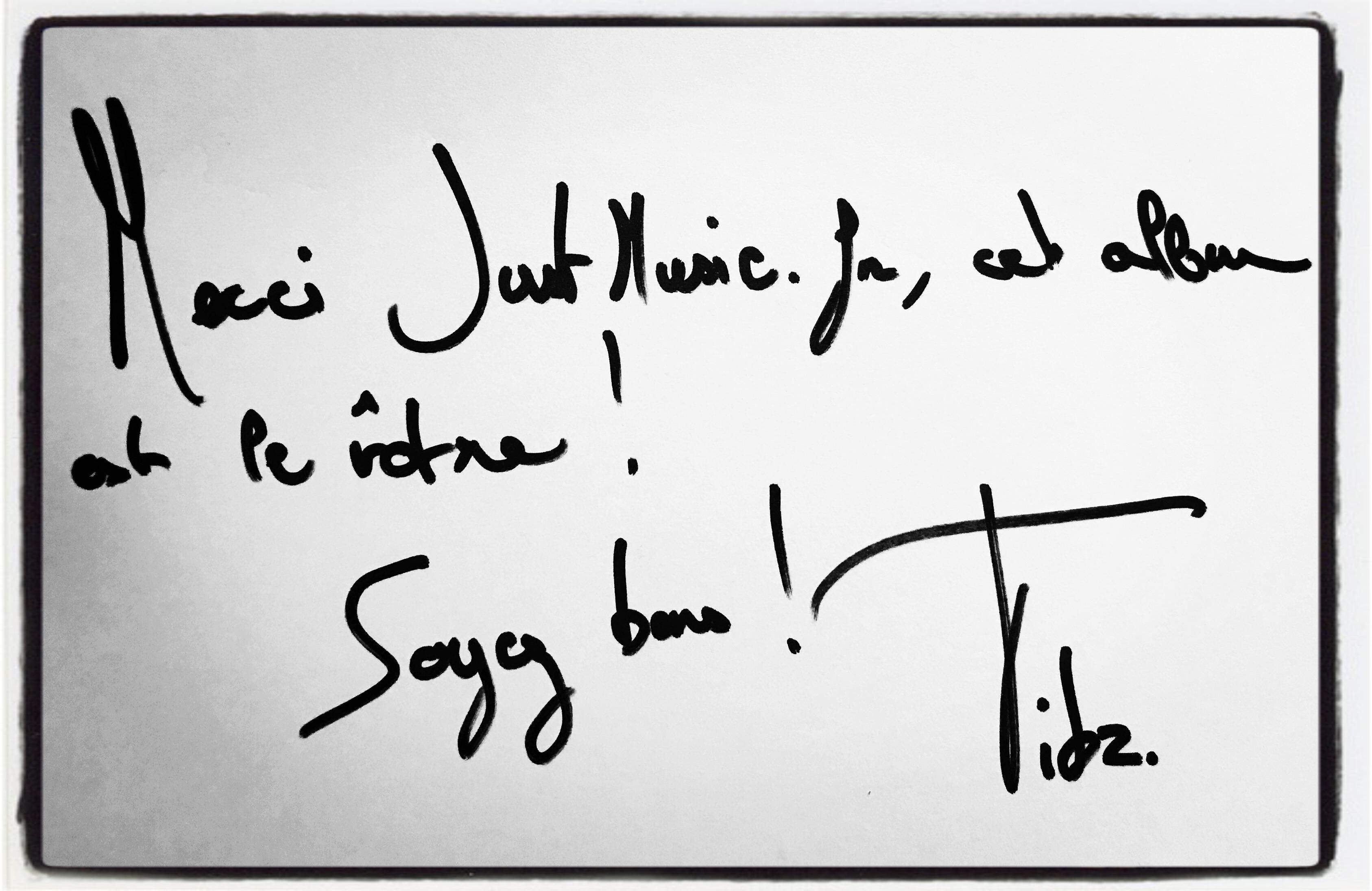 Tibz Dédicace JustMusic.fr